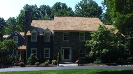 Bernardsville, NJ, Cedar Roof on English Country Home